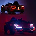 Дитячий електромобіль M 4115 EBLR-4, Lamborghini Aventador, EVA гума, шкіряне сидіння, синій, фото 10