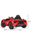 Дитячий електромобіль M 4115 EBLR-4, Lamborghini Aventador, EVA гума, шкіряне сидіння, синій, фото 9