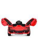 Дитячий електромобіль M 4115 EBLR-4, Lamborghini Aventador, EVA гума, шкіряне сидіння, синій, фото 4