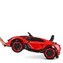 Дитячий електромобіль M 4115 EBLR-4, Lamborghini Aventador, EVA гума, шкіряне сидіння, синій, фото 8