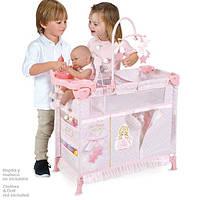 Игровой манеж-кроватка для куклы с аксессуарами 53028