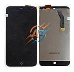 Дисплейный модуль смартфона Meizu MX3 черный