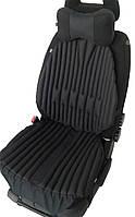 Ортопедические био накидки - чехлы EKKOSEAT на автомобильное кресло. Комплект. Черная.
