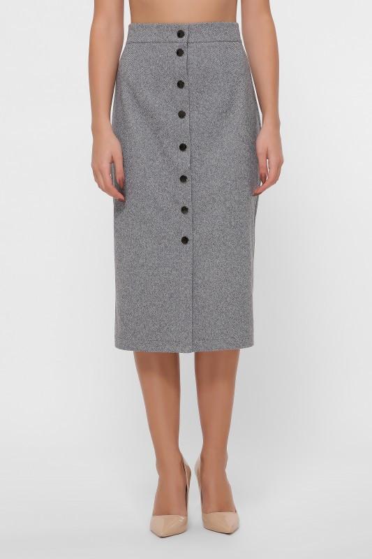 Прямая юбка YUB-1058 серый (42-48)