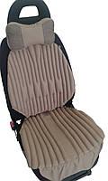 Ортопедические био подушки-накидки EKKOSEAT на автомобильное кресло. Комплект. Бежевые.