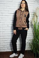 Женский спортивный костюм с капюшоном Бомбер. Размер 44-52
