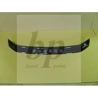 Дефлектор капота (мухобойка) Mitsubishi pajero sport III (митсубиси паджеро спорт 3 2015г+)