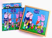 Шоколадний набір для дітей. Шокопазл Свинка Пеппа + розмальовка. Шоколадний пазл, подарунок дівчинці, хлопчику