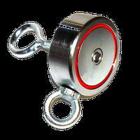 Поисковый магнит двухсторонний РЕДМАГ сила 600 кг