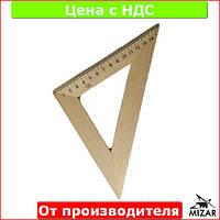Треугольник деревянный 16 см 45х45 1х100, 103021