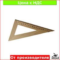 Треугольник деревянный 22 см 60х90х30, 103019