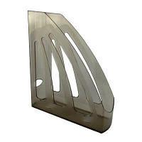 Лоток для бумаг вертикальныйй пластиковый ЛВ-03 дымчатый (КИП)