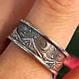 Брендовое серебряное кольцо День-Ночь - Кольцо из серебра без камней, фото 5