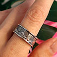 Брендовое серебряное кольцо День-Ночь - Кольцо из серебра без камней, фото 3