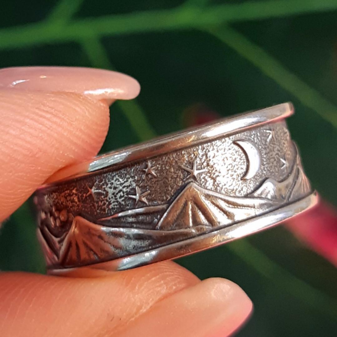 Брендовое серебряное кольцо День-Ночь - Кольцо из серебра без камней