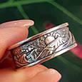 Брендовое серебряное кольцо День-Ночь - Кольцо из серебра без камней, фото 2