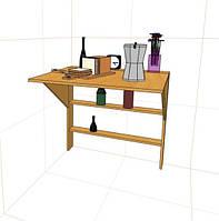 """Складной дизайнерский стол с полками """"Элит""""."""