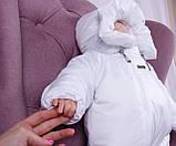 Теплый комбинезон для новорожденных Вьюга белый, фото 6