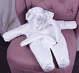 Теплый комбинезон для новорожденных Вьюга белый, фото 7