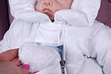 Теплый комбинезон для новорожденных Вьюга белый, фото 9