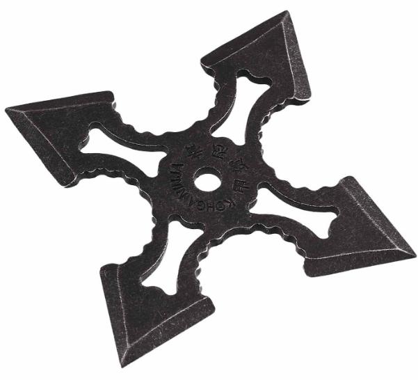 Нож - звезда черная метательный набор 3 шт + чехол, (фигурная) иглообразная пластина для метания