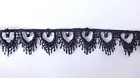 Кружево зубчик  1.8 см. черное