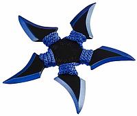 Нож - звезда синяя метательный набор 3 шт + чехол, (пятиконечная) иглообразная пластина для метания