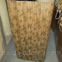 """В пределах отрезка 2 м.п / Бамбуковые обои """"Листья бамбука"""", п,8 мм, высота рулона 0,9 м"""
