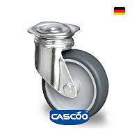 Колесо для тележки для ящиков 100 мм, поворотное с крепеж.панел.под болт М10, 100 кг(Германия)