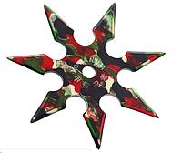 Нож - звезда камуфляж метательный набор 3 шт + чехол, (семиконечная) иглообразная пластина для метания