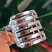 Жіноче широке срібне кільце з фіанітами 21 розмір, фото 6