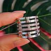 Жіноче широке срібне кільце з фіанітами 21 розмір, фото 4