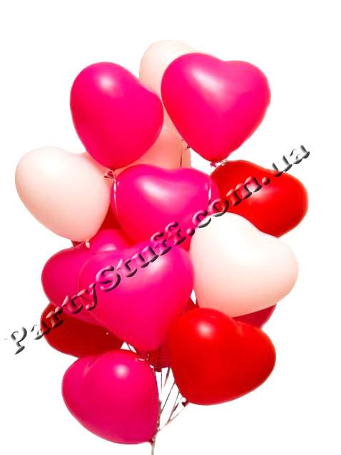 шарики в виде сердец для романтического свидания