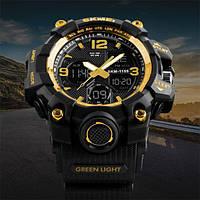 Мужские спортивные часы Skmei 1155 B black / blue / red / gold / green camo / blue camo / grey camo