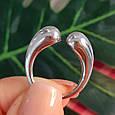 Серебряное кольцо без камней - Кольцо Поцелуйчики серебро 925, фото 8