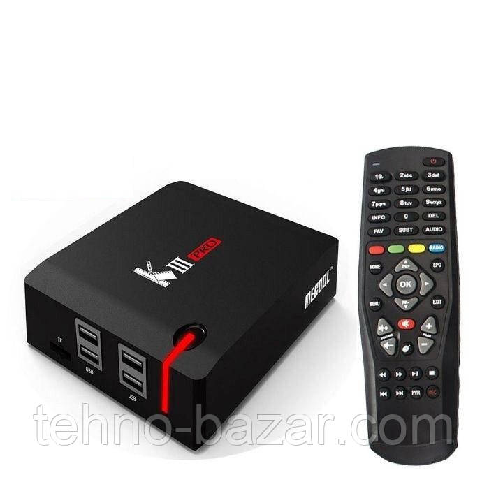 TV Box Mecool KIII Pro 3/16gb Amlogic S912 DVB S2/T2/C Android 7.1 спутниковая Android TV приставка