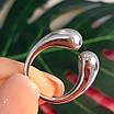 Срібне кільце без каменів - Кільце Поцілунки срібло 925, фото 2
