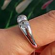 Серебряное кольцо без камней - Кольцо Поцелуйчики серебро 925, фото 6
