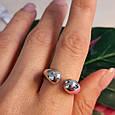 Серебряное кольцо без камней - Кольцо Поцелуйчики серебро 925, фото 5