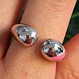Серебряное кольцо без камней - Кольцо Поцелуйчики серебро 925, фото 3