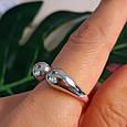 Серебряное кольцо без камней - Кольцо Поцелуйчики серебро 925, фото 4