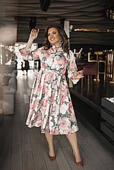 Эффектное платье Цветы 05076