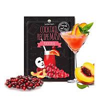 Увлажняющая тканевая маска для лица Berrisom Cocktail Recipe Mask Peach Crash (персик краш), фото 1