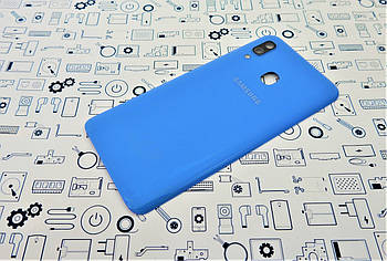 Задняя крышка Samsung A40 A405F синяя Сервисный оригинал с разборки
