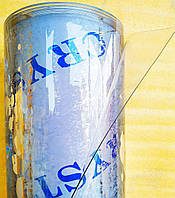 Пленка ПВХ гибкое стекло. На метраж \ 800 мкм плотность \ ширина 0,6 м. Прозрачная.
