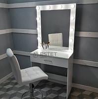 Визажный стол с подсветкой и ящиком с ручкой ES134