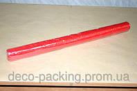 Красная жатая органза для упаковки цветов