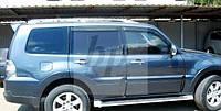 Дефлекторы окон (ветровики) Mitsubishi pajero wagon IV (митсубиси паджеро вагон 4) 2005г+