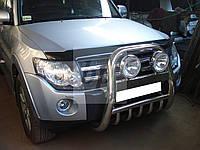 Защита переднего бампера (кенгурятник высокий) Mitsubishi pajero wagon IV (митсубиси паджеро вагон 4) 2005г+