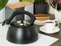 Чайник из нержавеющей стали 3 л. с термометром и свистком Edenberg EB-8815